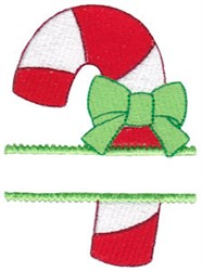 Split Candy Cane embroidery design