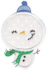 Applique Snowman embroidery design