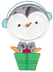 Applique Penquin embroidery design