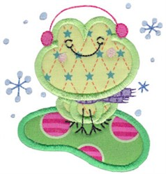 Applique Frog embroidery design
