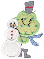 Applique Xmas embroidery design