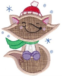 Xmas Fox embroidery design