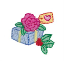 Rose Gift embroidery design