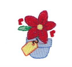 Xmas Flower embroidery design