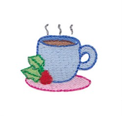 Holiday Coffee embroidery design