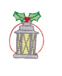 Holiday Lantern embroidery design