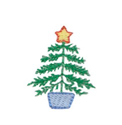 Mini Christmas Tree embroidery design