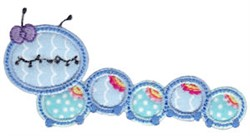 Caterpillar Applique embroidery design