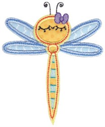 Dragonfly Applique embroidery design