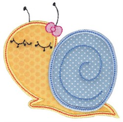 Snail Applique embroidery design