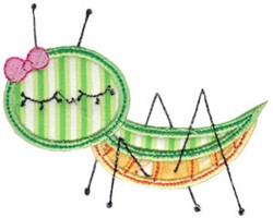 Applique Grasshopper embroidery design