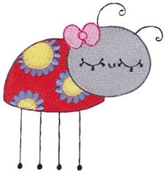 Adorable Ladybug embroidery design