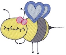 Adorable Bumblebee embroidery design