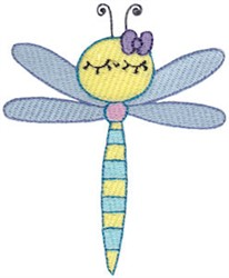 Adorable Dragonfly embroidery design