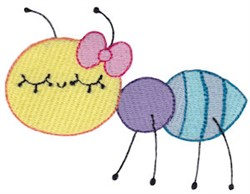 Adorable Ant embroidery design