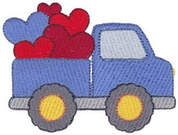 Valentines Day Pick Up embroidery design