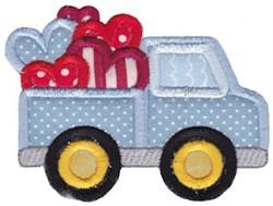 Applique Valentines Day Truck embroidery design