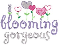 Blooming Gorgeous embroidery design