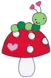 Valentines Mushroom & Caterpillar embroidery design