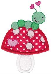 Applique Mushroom & Caterpillar embroidery design