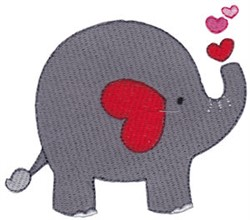 Valentines Day Elephant embroidery design