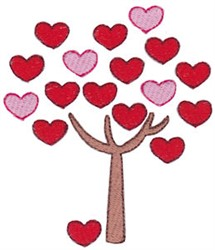 Valentines Day Tree embroidery design