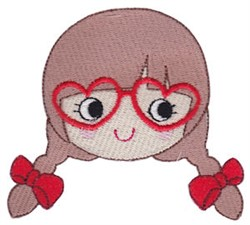 Valentines Day Girl embroidery design