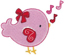 Valentines Day Bird embroidery design