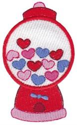 Valentines Day Gum Machine embroidery design