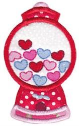Applique Valentines Gumball Machine embroidery design