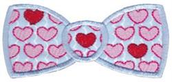 Applique Valentines Bow Tie embroidery design