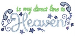 Direct Line To Heaven embroidery design
