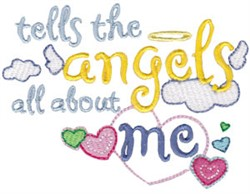 Tell The Angels embroidery design