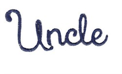 Uncle embroidery design