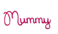 Mummy embroidery design