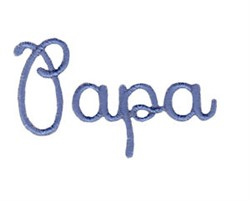 Papa embroidery design