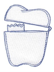 Tooth Fairy Bag embroidery design