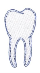 Molar embroidery design