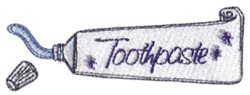Toothpaste embroidery design