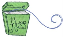 Floss embroidery design