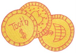 Tooth Fairy Coins embroidery design
