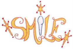 Sparkling Smile embroidery design