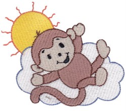 Monkey In The Clouds embroidery design