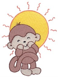 Summertime Monkey embroidery design