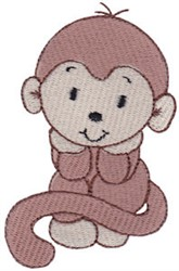 Sweet Monkey embroidery design