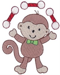 Juggling Monkey embroidery design