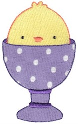 Sweet Easter Chick embroidery design