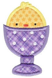 Sweet Easter Chick Applique embroidery design