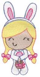 Easter Bunny Costume embroidery design