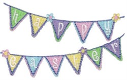 Happy Easter Banner embroidery design